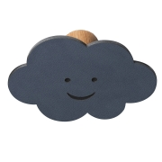 Knage DOT Cloud i læder - dark blue