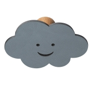 Knage DOT Cloud i læder - light blue