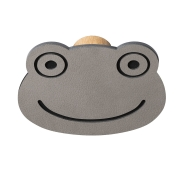 Knage DOT Frog i læder - light grey