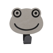 Knage Frog i læder - light grey